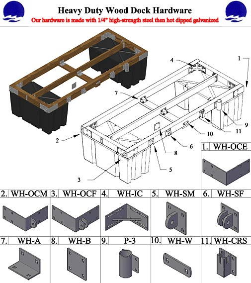 Wood floating dock plans